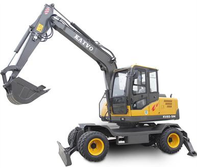 KV85型輪式小型挖掘機